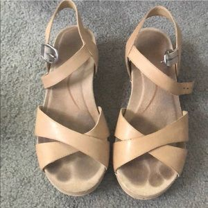 Dansko light tan sandals size 37